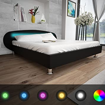 Amazon De Festnight Bett Kunstlederbett Holz Bettgestell Bettrahmen