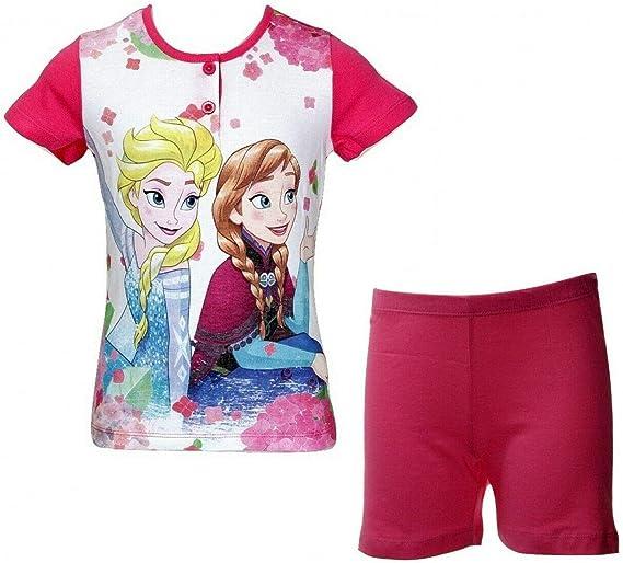 Pigiama Bambina Mezza Manica e Pantaloncino in Cotone DISNEY/_Frozen