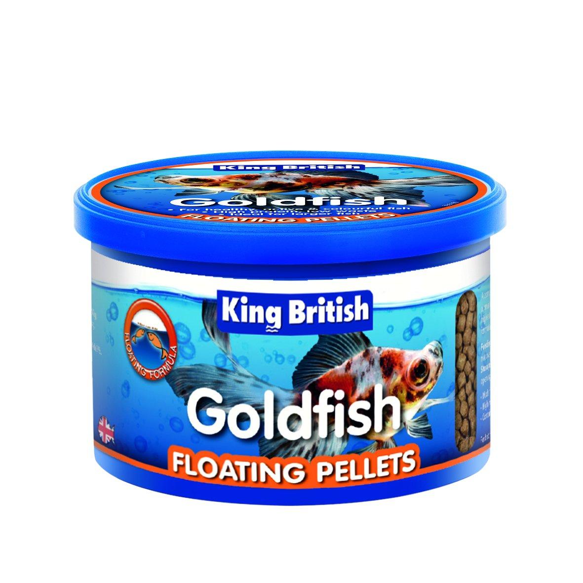 King British goldfish Floating Food Pellets 75 G (Pack of 6)