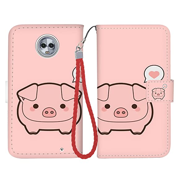 the best attitude ad894 218f8 Moto G6 Case, Moto G6 Wallet Case, Fashion PU Leather Magnetic Folio Wallet  Case [Wrist Strap] with ID&Credit Card Slots and Kickstand for Motorola G6  ...