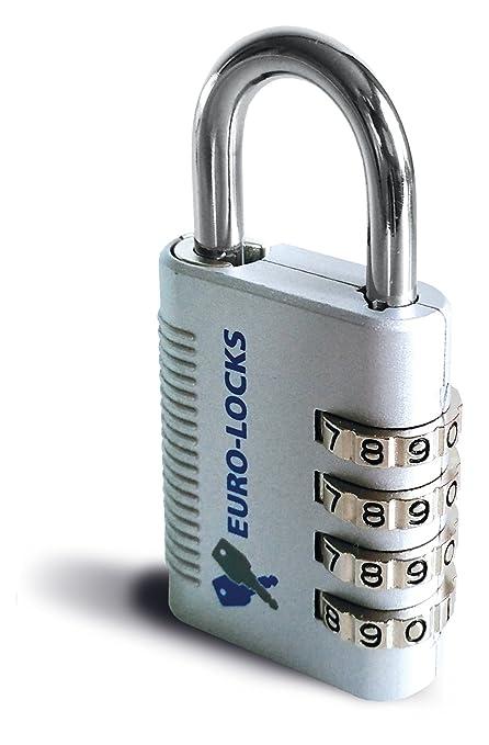 Candado Cerradura Combinación numérica, Euro de Locks A222, sin llave de apertura de Not