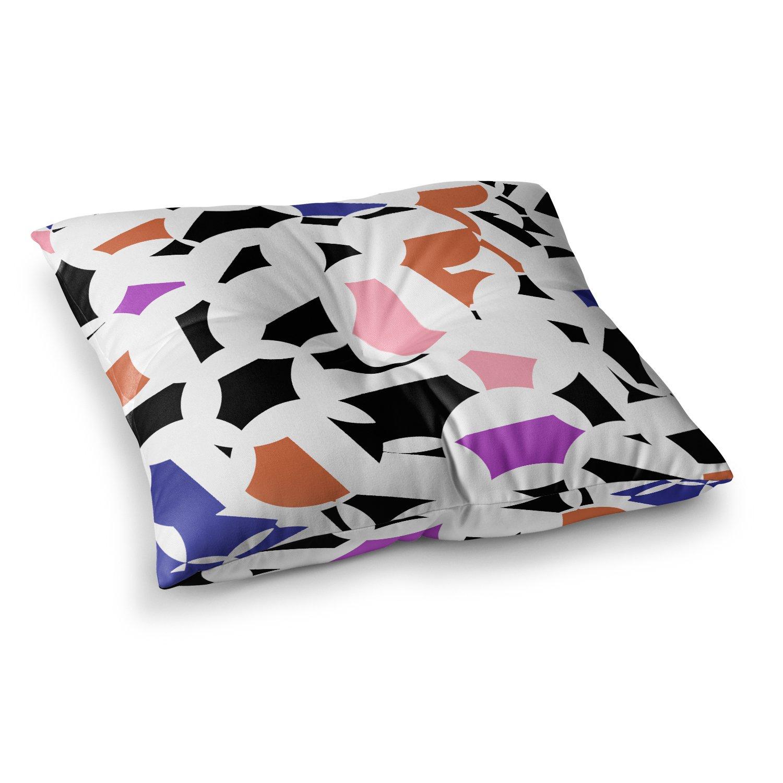 Kess InHouse Gabriela Fuente Geo Fun White Multicolor, 23' x 23' Square Floor Pillow