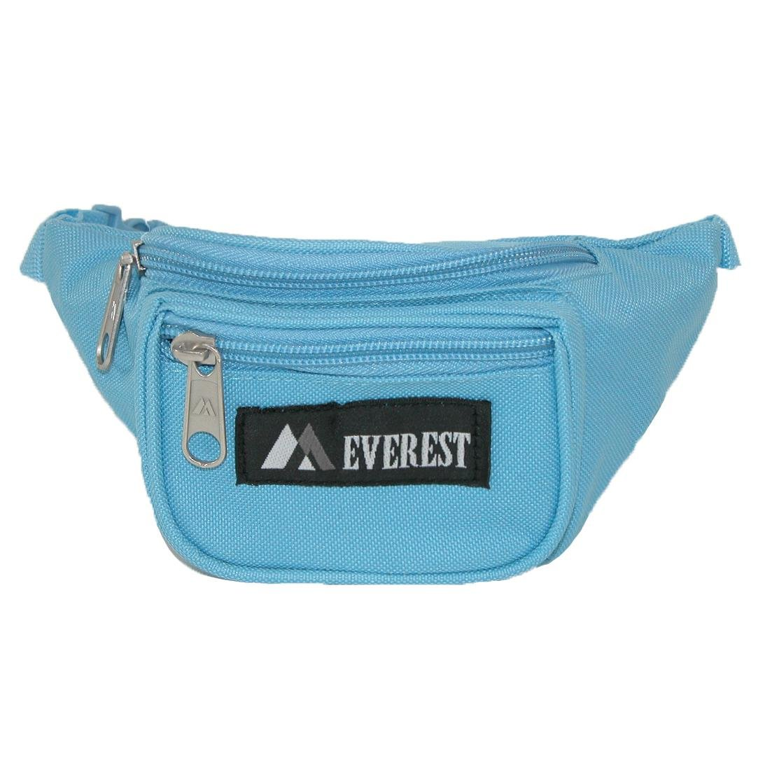 Everest Kids Fabric Adjustable Organizer Fanny Waist Pack, Black