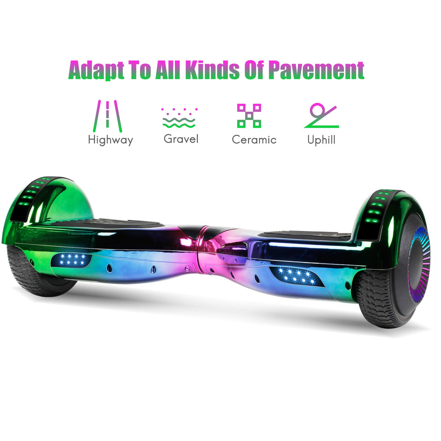 jolege Hoverboard with Bluetooth 6.5 inch Self Balancing Hoverboards for Kids with LED Flahing Lights-UL2272 Certified by jolege (Image #5)