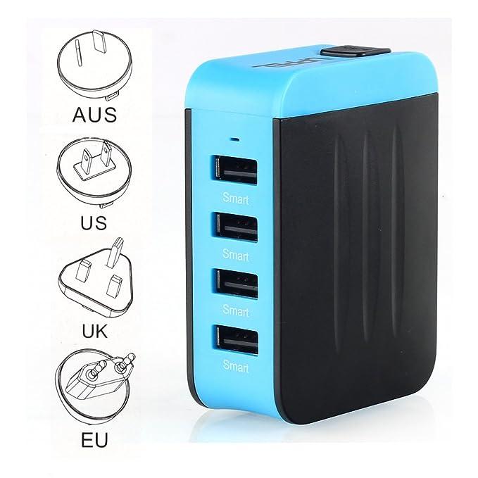 137 opinioni per 4 USB 3.0 Travel Adapter Adattatore Universale da Viaggio Caricatore