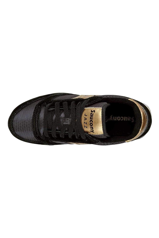 Saucony Schuhe Frau Frau Frau niedrige Turnschuhe S1044-521 Jazz ORIGINAL Größe 37.5 Schwarz Gold 5e6502