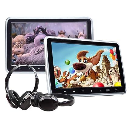 Pleasing Amazon Com Eonon 2019 10 1 Inch Headrest Monitors Dual Screen Dvd Wiring Cloud Pendufoxcilixyz