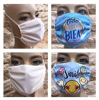 Pack familiar: 2 mascarillas adulto+2 mascarillas infantiles homologadas de 3 capas lavables reutilizables fabricado en España: Amazon.es: Industria, empresas y ciencia