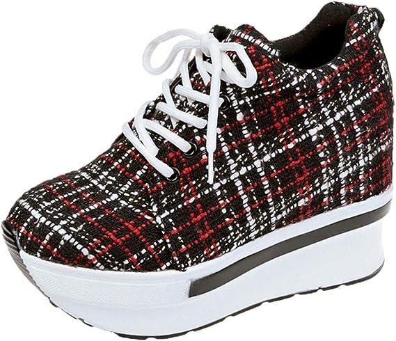 Darringls Sandalias para Mujer, Zapatos de Cordones Plano Dama Casual Deportivo Cómodo Moda Señora Senderismo Aire Libre y Deporte Calzado de Trabajo (Rojo, 37): Amazon.es: Ropa y accesorios