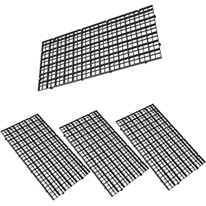 leyouyou520 4 Pcs Grid Divider Tray Egg Crate Aquarium Fish Tank Filter Bottom Isolate