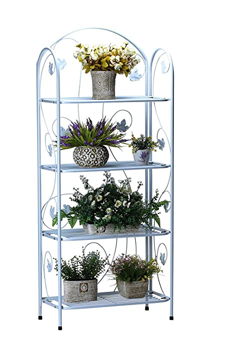 Amazon Com Worth 4 Tier Plant Stand With Rustic Maple Leaf Design