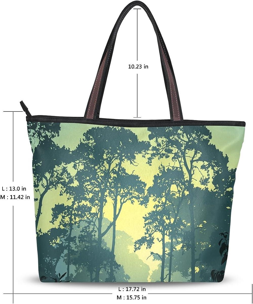 Imobaby Forest Landscape Shoulder Tote Bag Handbag Shopping Bags Valentines Day Gift For Her,Multi472