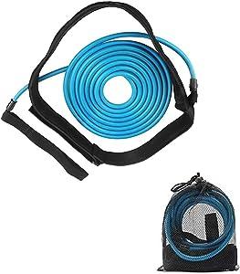 4M Swim Training Belts, Swim Tether Stationary Swimming, Swim Training Leash, Swim Harness Static Swimming Belt, Swim Bungee Cords Resistance Bands
