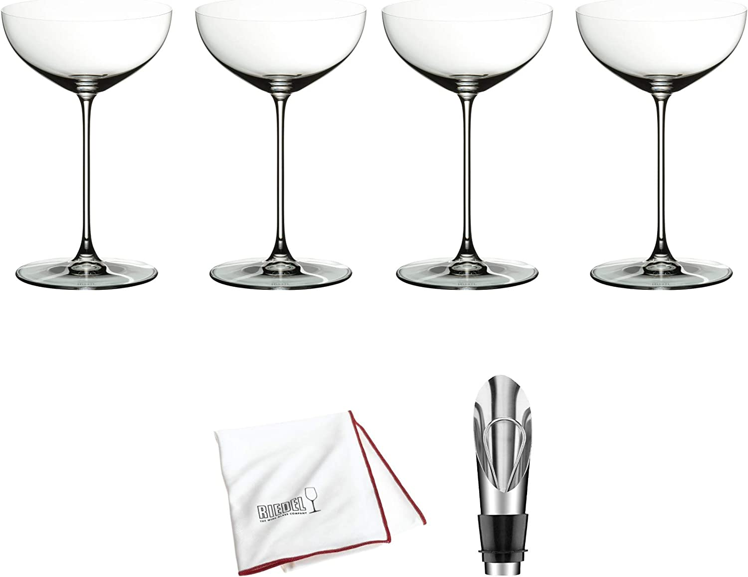 Riedel Bombing free shipping Veritas Moscato Coupe Martini Glass of Super Special SALE held 4 W Pack Includes