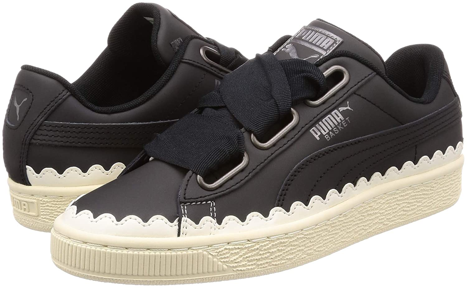 Amazon.com | PUMA Basket Heart Scallop Womens Trainers | Fashion Sneakers