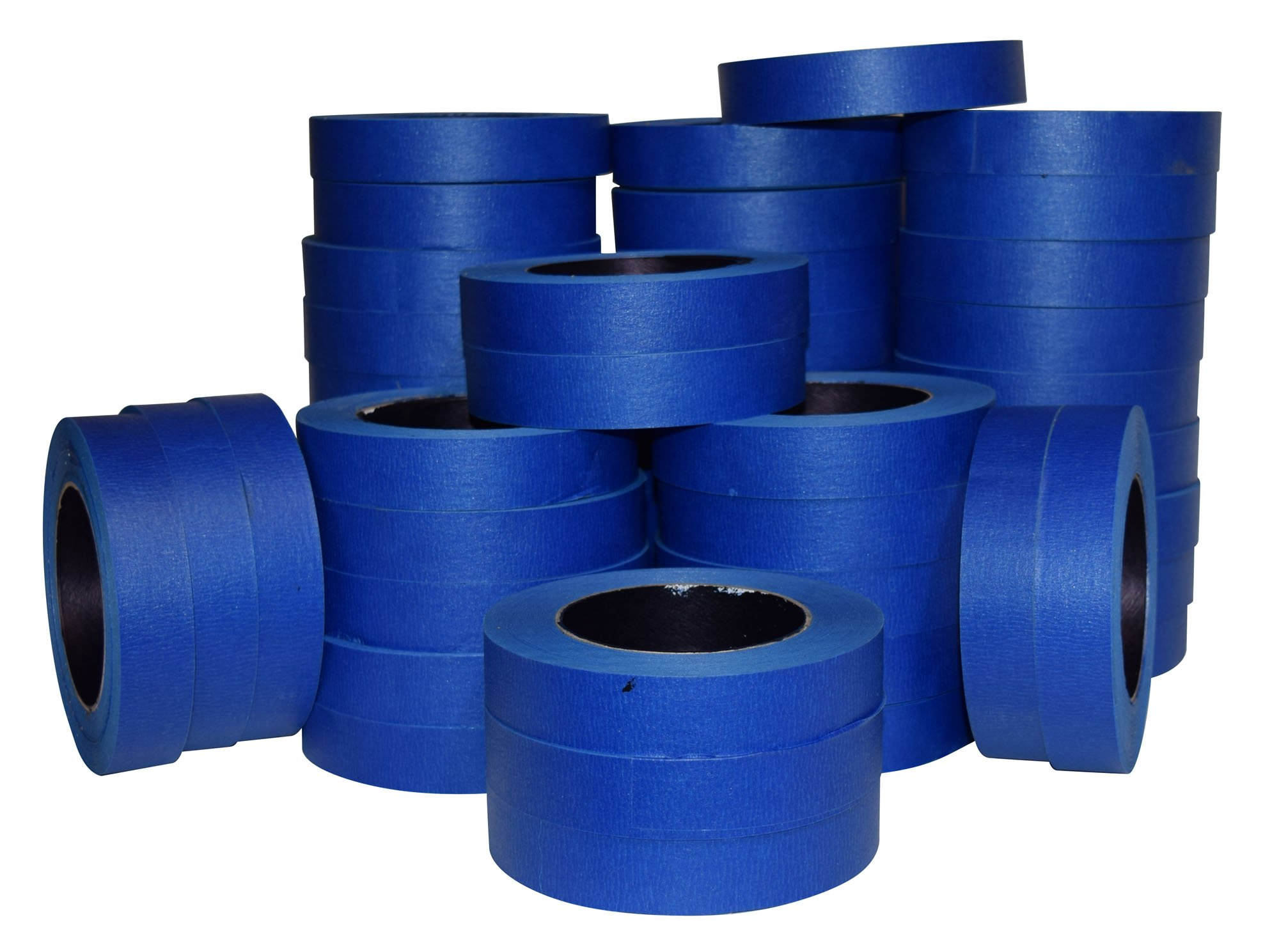 JAK Industrial Blue Painters Tape PROFESSIONAL Grade - CASE of 48 - 1'' x 60 Yards per roll. (24MM .94in)