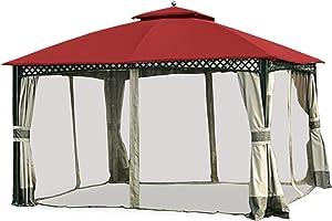 Garden Winds Replacement Canopy for The Windsor Gazebo - Riplock 350 - Cinnabar