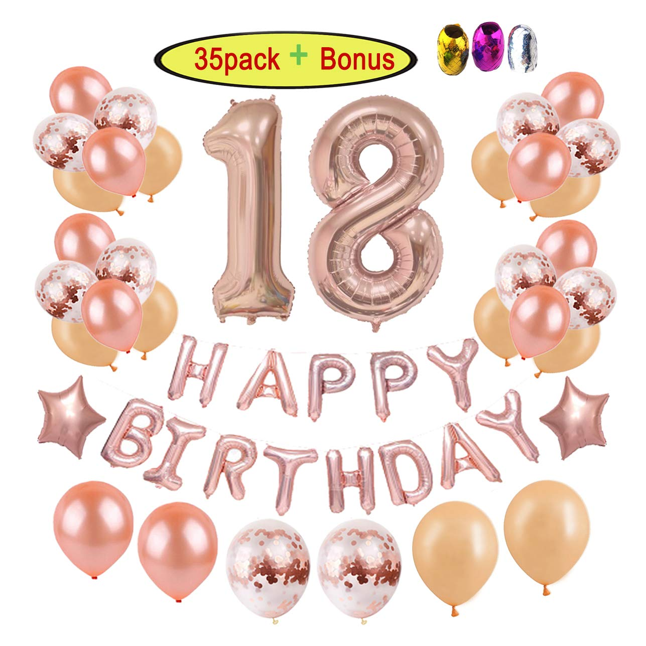 18th Birthday Decorations Party Supplies For Girls Women