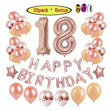 Amazoncom 18th Birthday Party Decorations Supplies Kits For Girls