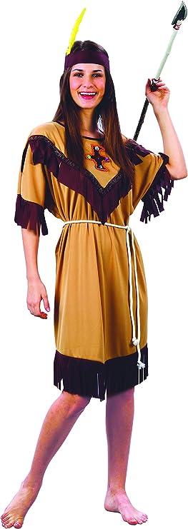 Vegaoo - Disfraz de India Flecos para Mujer - XL: Amazon.es ...