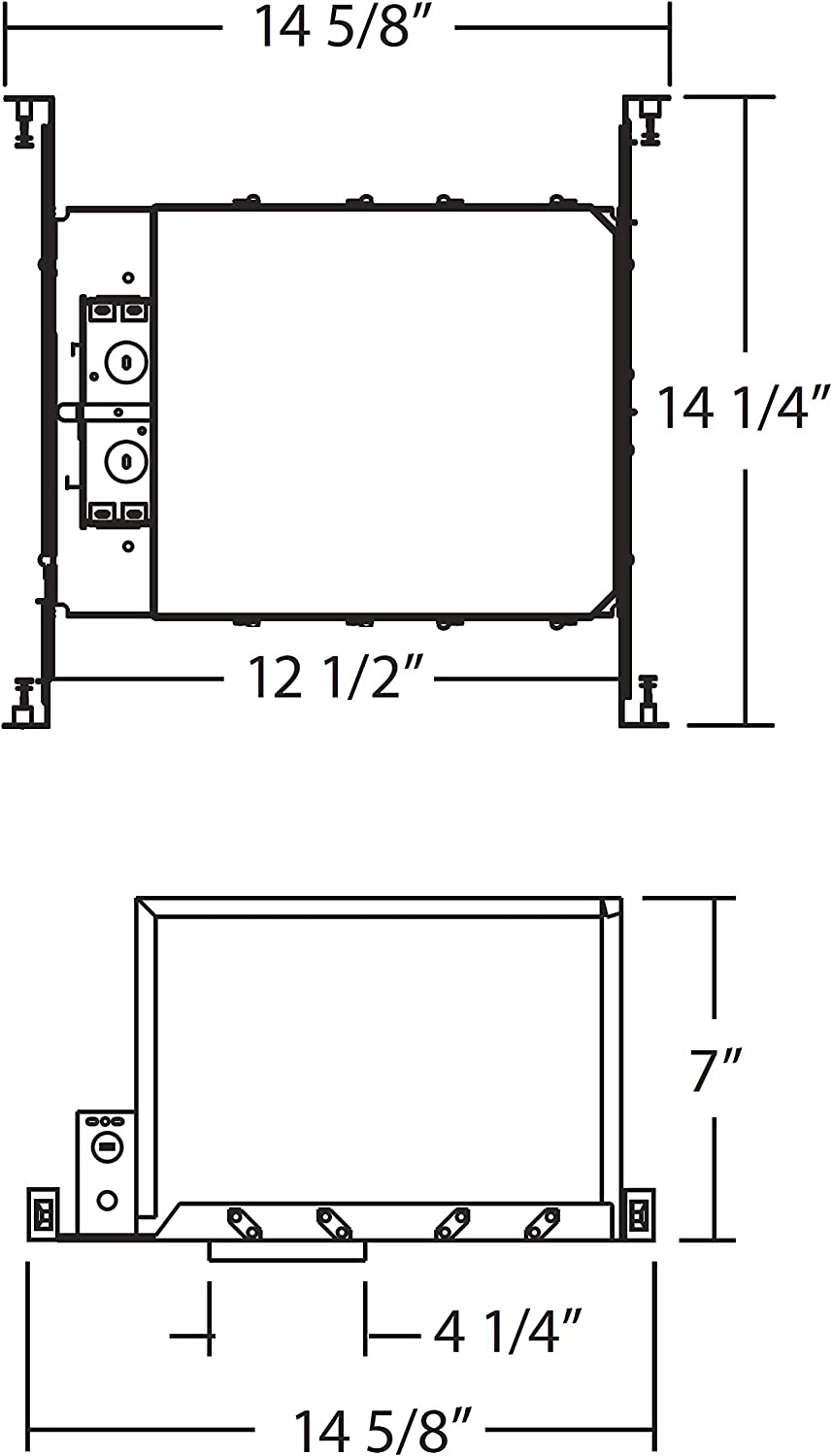 14102A IC-Rated Low Voltage NICOR Lighting 4 inch New Construction Housing
