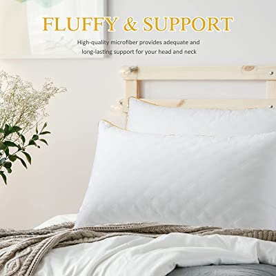 Buy Lute Bed Pillows Queen Size Set Of 2 Luxury Hotel Quality Down Alternative Pillows For Sleeping Soft Supportive For Side Back Stomach Sleepers 20 X 28 Inches Online In Turkey B08cxl7bfm