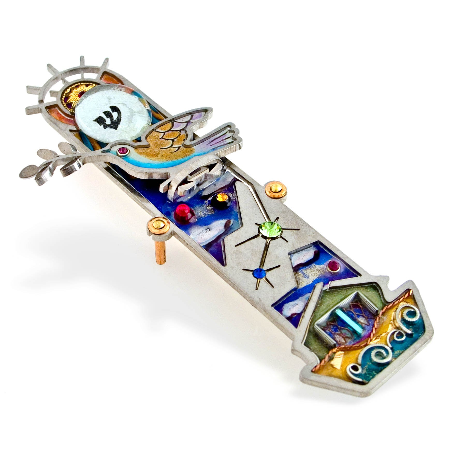 Seeka Noah's Ark Mezuzah Curated and sold by The Artazia Collection M0069 by The Artazia Collection