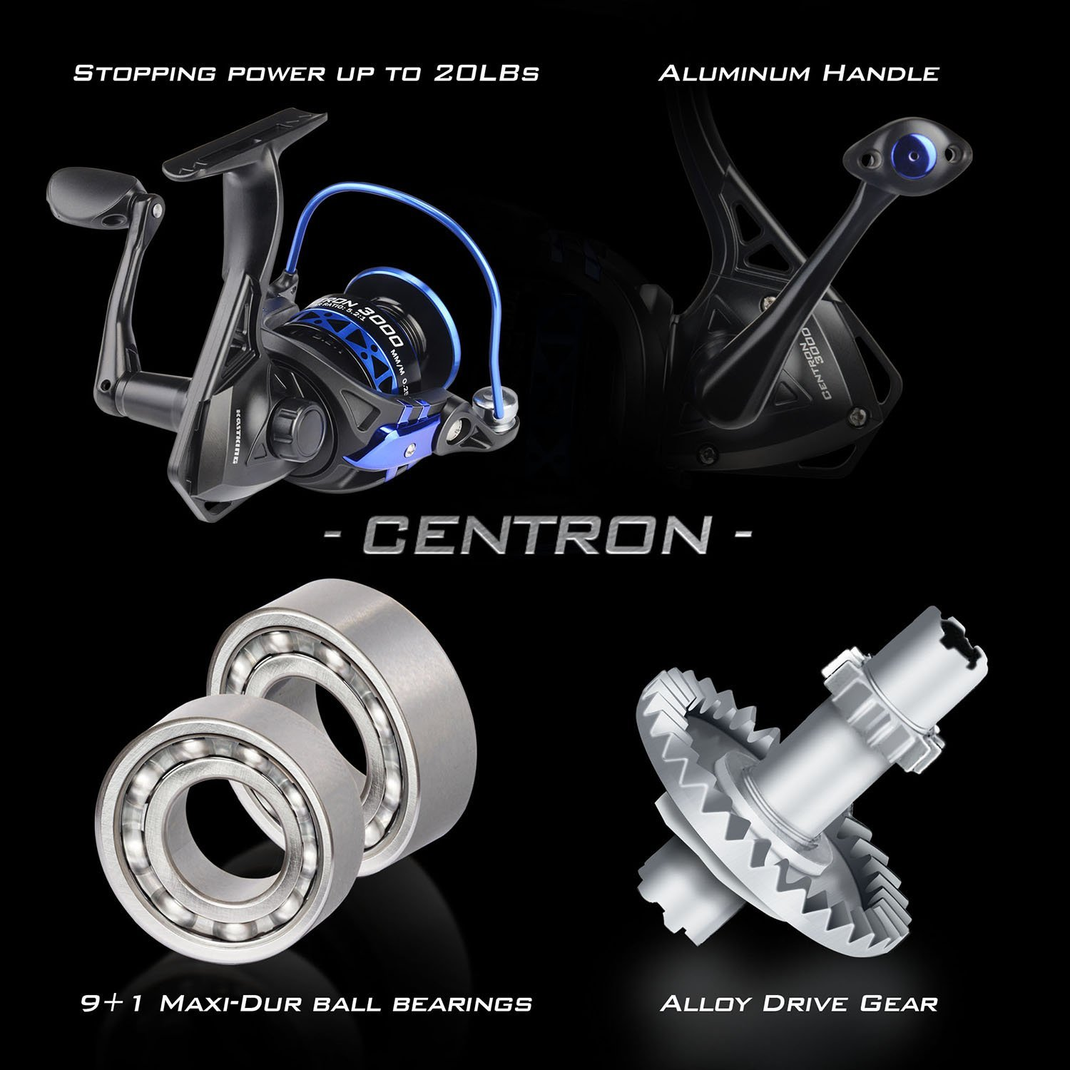 Fishing Rod Combos KastKing Centron Spinning Reel Stainless Steel Guides Toray IM6 Graphite 2Pc Blanks