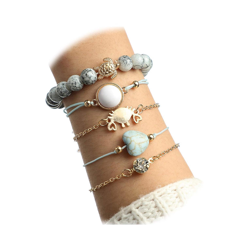 Gnzoe Female Jewelry-Alloy Anklet for Women Girl U Shape Ankle Bracelet Gold