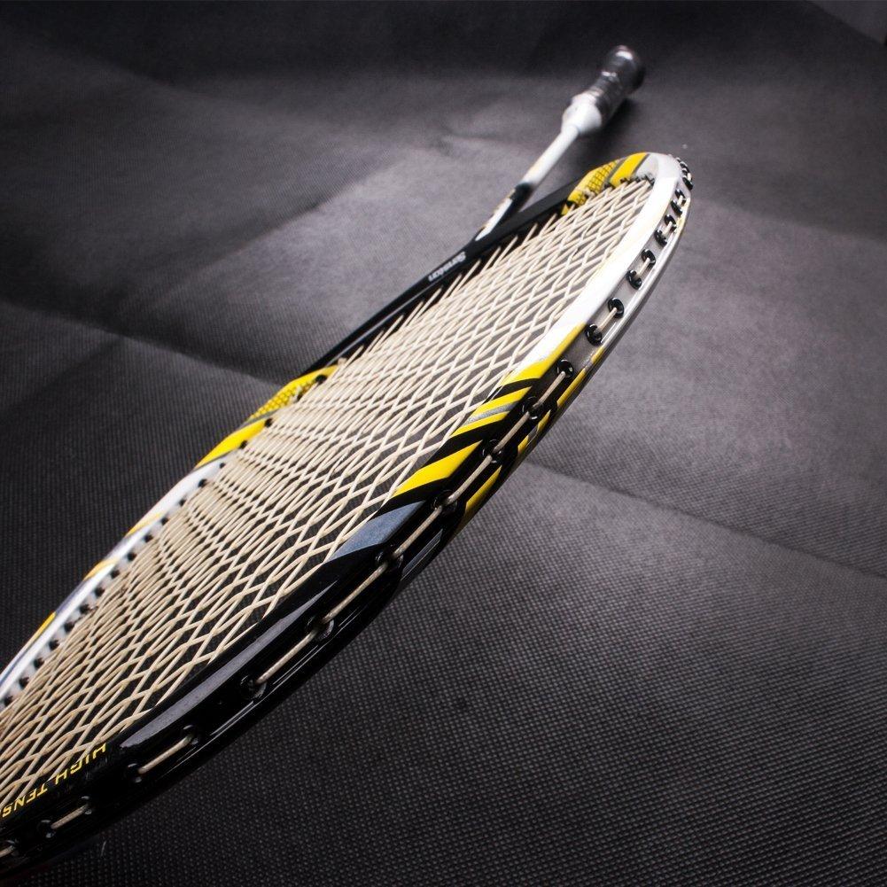 Senston Full Carbon Woven Technology Badmintonschl/äger f/ür High-End-Spieler Offensives und defensives Badminton-Set