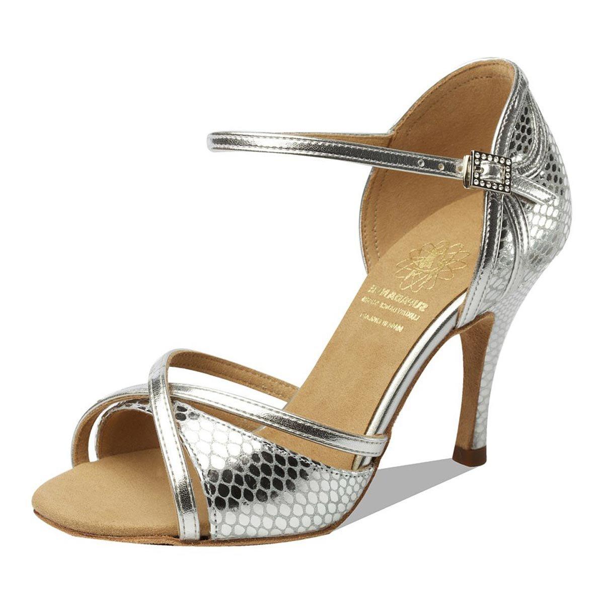 Supadance - Damen Tanzschuhe 1073 - Silber - Normalweite - 3  Stiletto