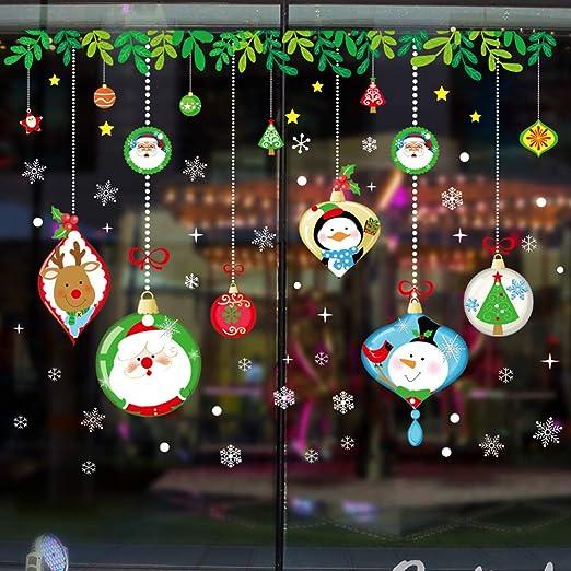 Home Furniture Diy Christmas Window Decorations Christmas Room Christmas Santa Claus Snowmen Elk Wall Stickers Window Decor W Jv Mtmstudioclub Com
