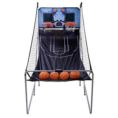 HomGarden Foldable Indoor Basketball Arcade Game Sport Double Triple Electronic Hoops Shot 2 Players w/4 Balls, Inflation Pump for Kids and Adults: Sports & Outdoors
