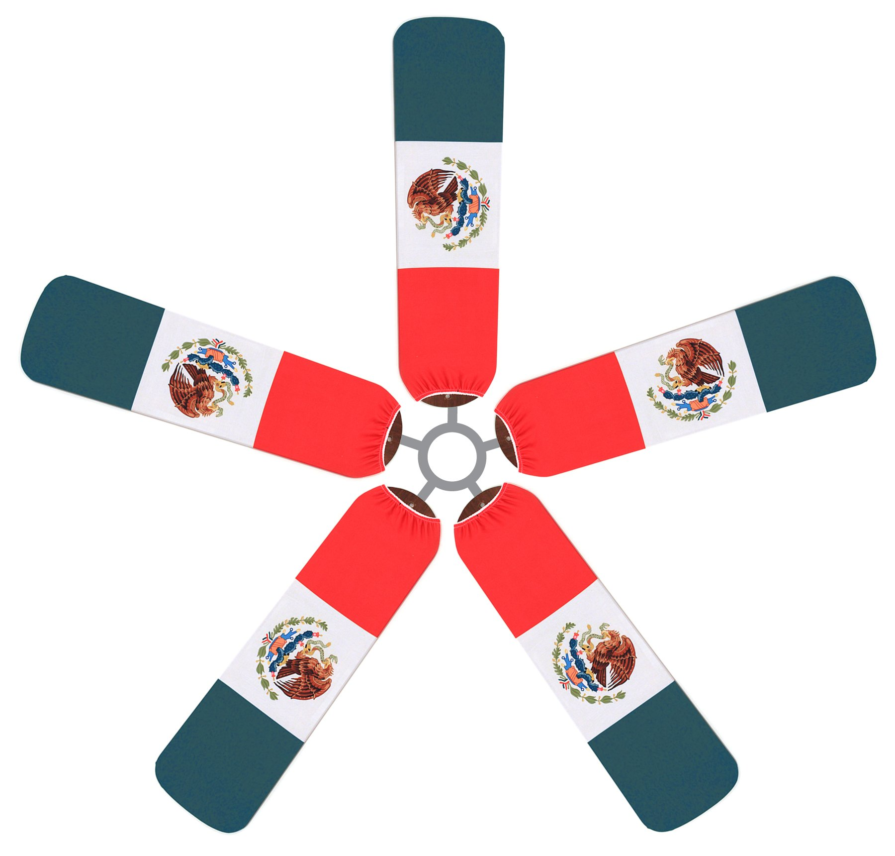 Fan Blade Designs Mexican Flag Ceiling Fan Blade Covers