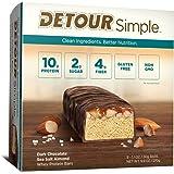 Detour Simple Whey Protein Bar, Dark Chocolate Sea Salt Almond, 1.1 Ounce, 9 Count