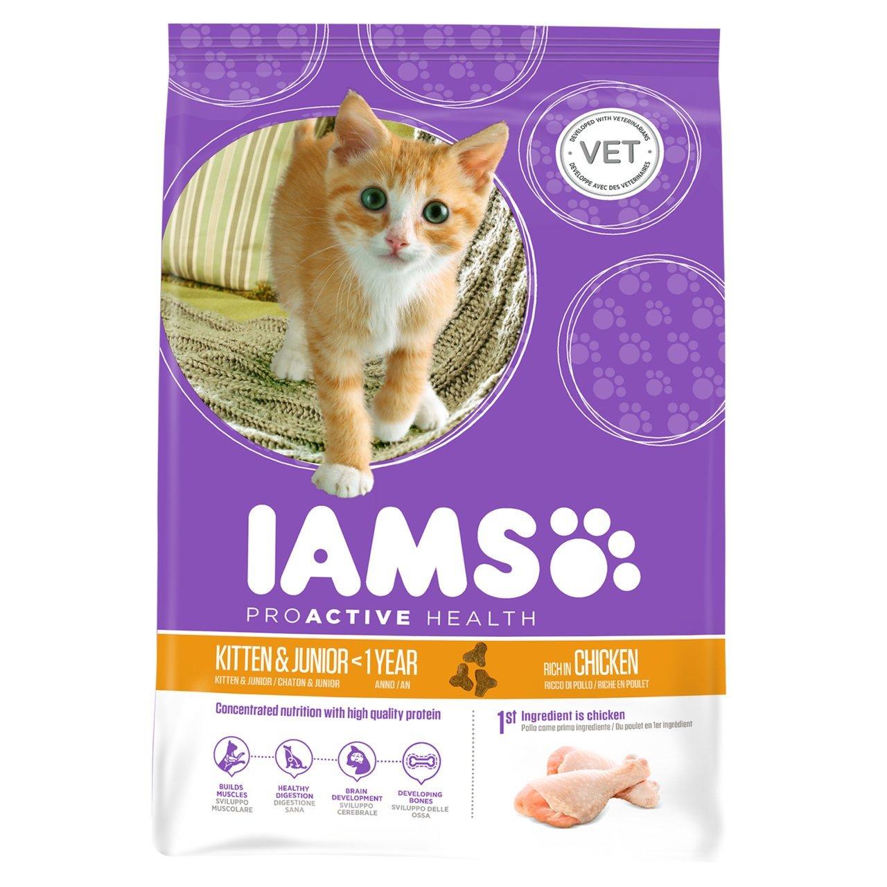 Iams - Comida para gatos jóvenes y cachorros, de pollo, 700 g ...
