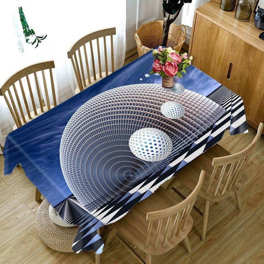 テーブルクロス - ポリエステル(ポリエステル)布、長方形の3D TY0071テーブルマット環境にやさしい、味のないデジタル印刷防水、防汚(正方形、丸型) (サイズ さいず : Round - 274cm) Round - 274cm  B07RWM6FFD