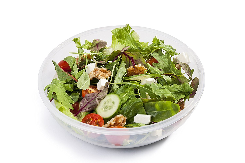 Juego de 3 envases para ensaladas portátiles (Azul-Verde-Gris) Aislamiento térmico & Recipiente para aderezo incluido!! Fácil de limpiar y secar!
