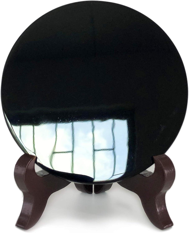 Specchio in ossidiana nera