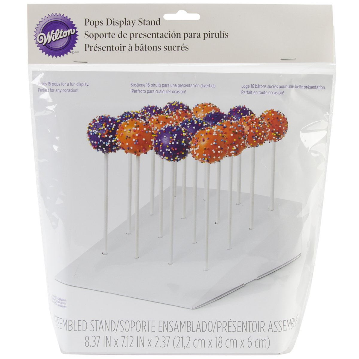 Cake Pops Display Stand, White, 6cm x 20.3cm (2.37 x 8.37in), Holds 16 Wilton 415-2264