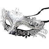 Venezianische Maske, Coofit Maskenball Masken Metall Maskerade Maske Masquerade Maske Venedig Maske Damen Herren