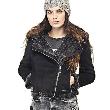 factory price 4c8af 6a2e0 GUESS GIUBBOTTO-MONTONE DONNA ALDA: Amazon.it: Abbigliamento