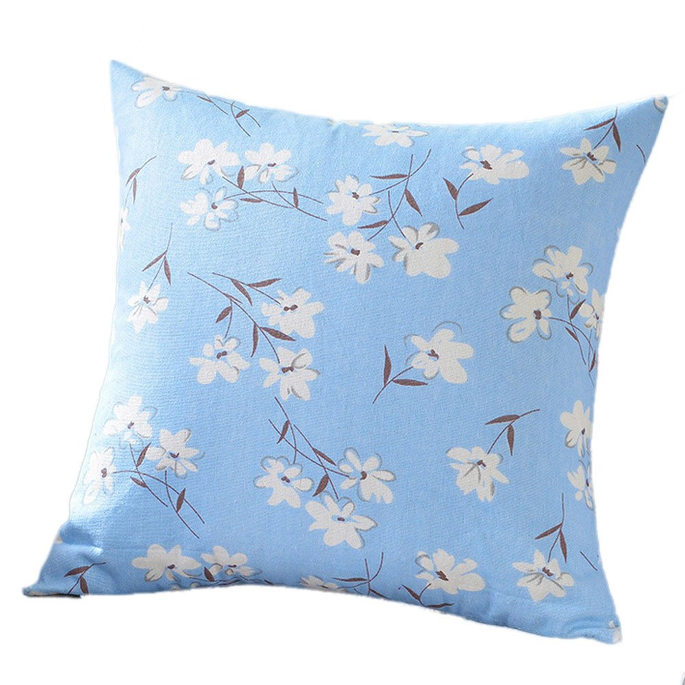 Chenway Print Fashion Throw Pillow Case, Square Pillowslip Zipper Cushion Festive Decoration CaseCover for Sofa Living Room Home Decor (C)