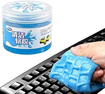 Gel de limpieza para teclado, goma para limpiar, goma de pan reutilizable, para eliminar el polvo y la suciedad de PC, ordenadores, muebles, desfiles ...