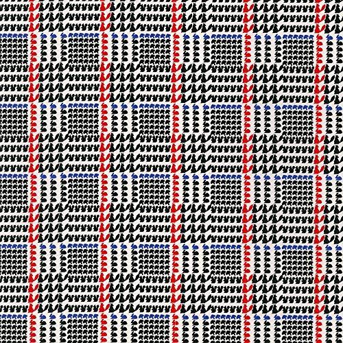 Fabric Plaid Glen (Robert Kaufman Fabrics Next Stop, London Black Glen Plaid)