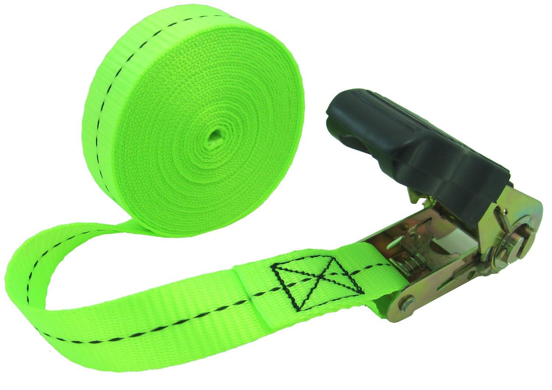 WINGONEER Endless Loop Ratchet Tie-Down Standard Duty Ratchet Endless No Hooks/Lashing, 1,700 lbs.196inch - Light green