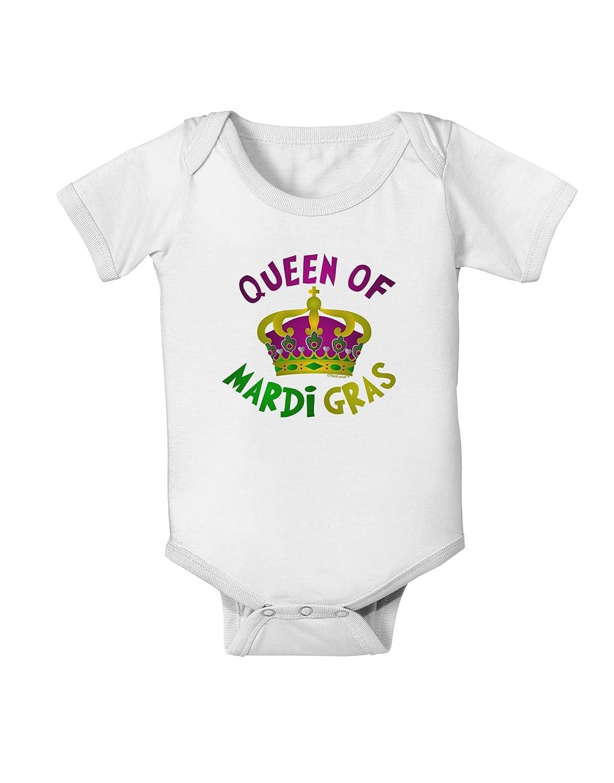 TooLoud Queen of Mardi Gras Baby Romper Bodysuit
