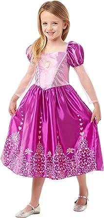 Princesas Disney - Disfraz de Rapunzel Deluxe para niña, infantil ...