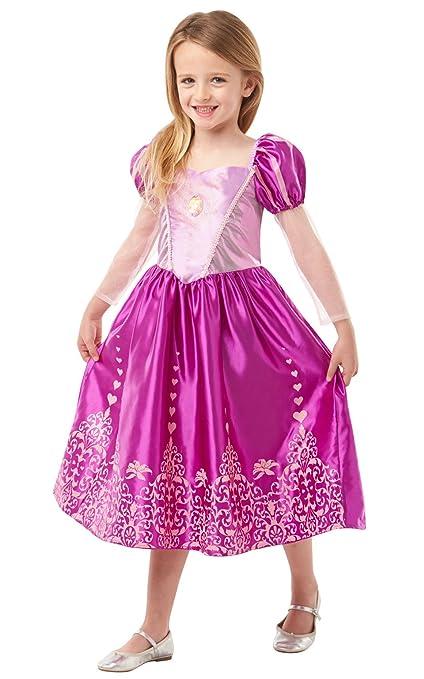 Princesas Disney - Disfraz de Rapunzel Deluxe para niña, infantil 7-8 años (Rubies 640722-L)