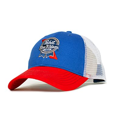 bf9dc43eae6b4 Image Unavailable. Image not available for. Color  Pabst Blue Ribbon  Embroidered Logo Hat